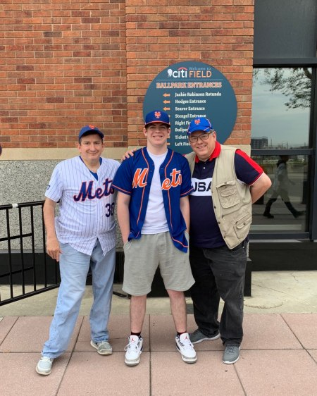 Jim, Jimmy and Jack in front of Citi Field